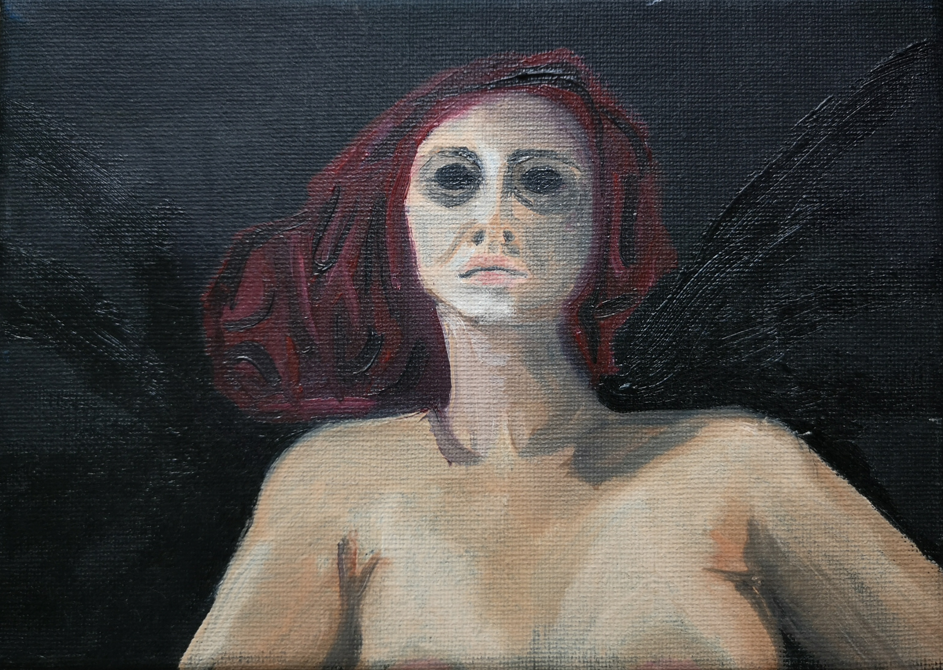 oil-painting  angel of death