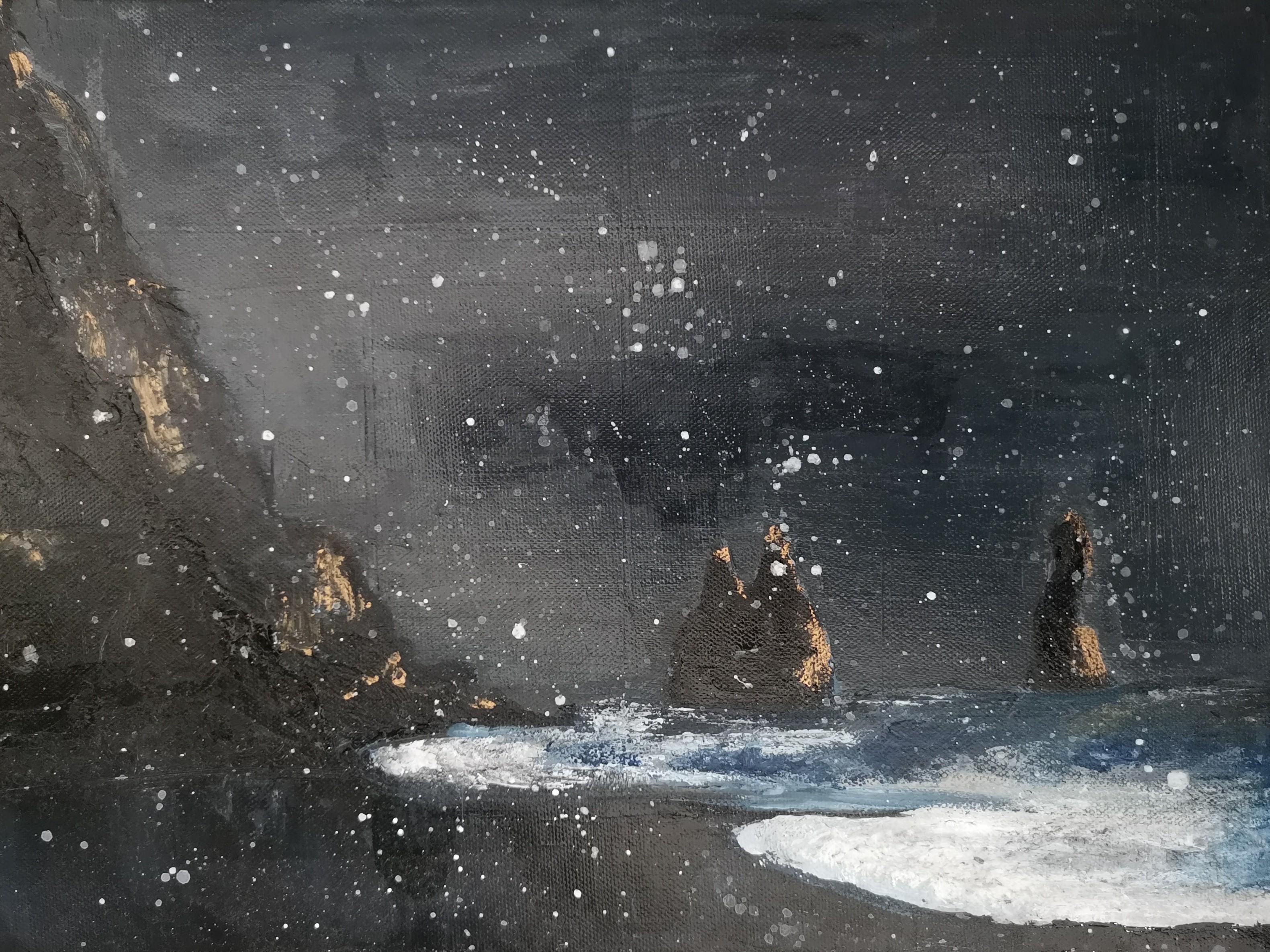 Iceland snow acrylic landscape